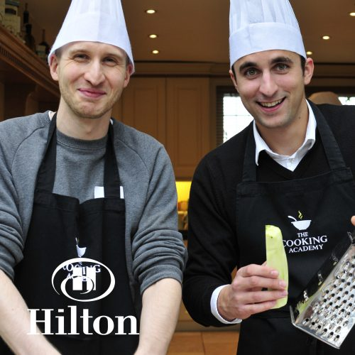 Hilton cookery team building event at The Cooking Academy Rickmansworth