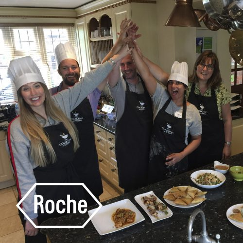 Roche cookery team building event