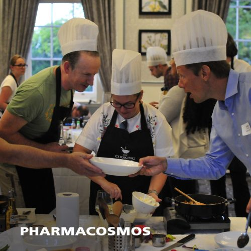 Pharmacosmos annual conference cookery energiser at The Cooking Academy Reading