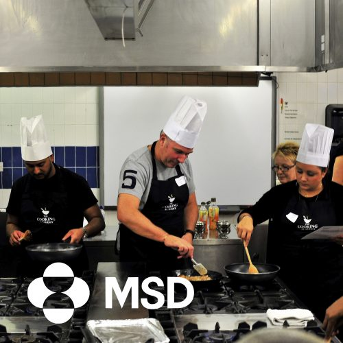 MSD corporate social responsibility cooking event