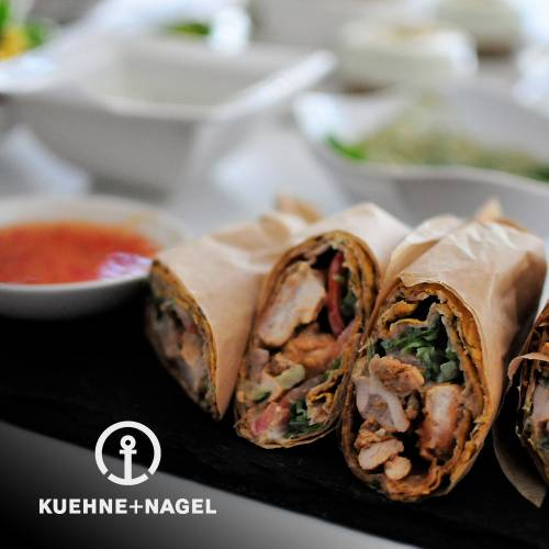 Chilli and fennel grilled wraps by Keuhne & Nagel