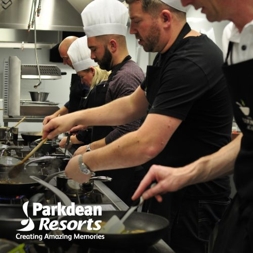 Parkdean company cooking parky at The Cooking Academy London