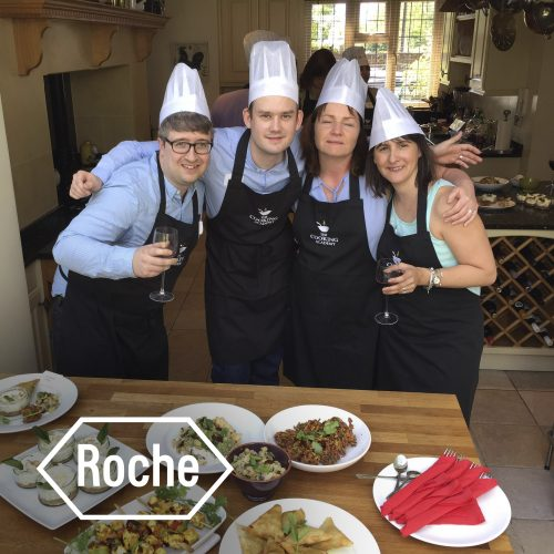 Roche cooking team building event