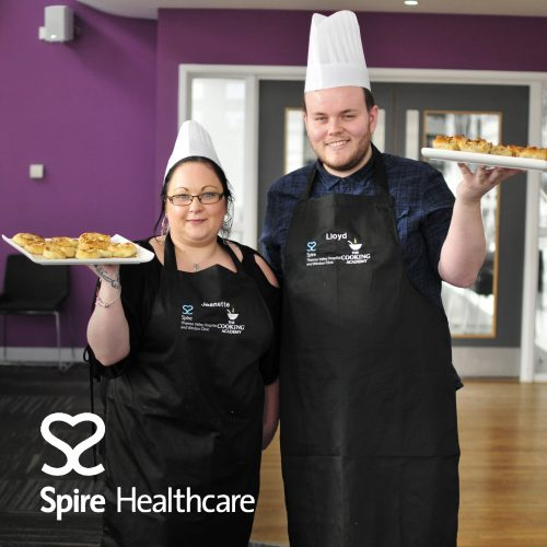 Spire Healthcare bake off challenge at The Cooking Academy Langley