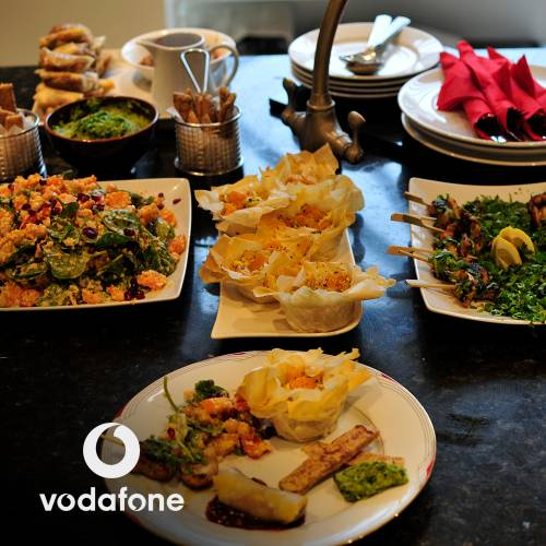 A banquet feast made by Vodafone