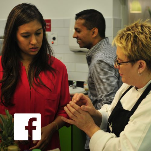 Corporate cookery challenge with Facebook USA.
