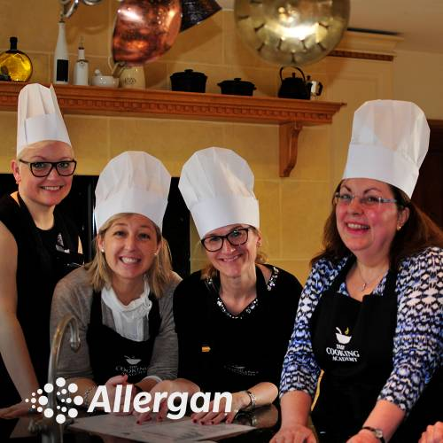 Team cooking with Allergan