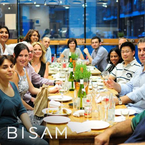 BISAM enjoying their own cooking at The Cooking Academy London