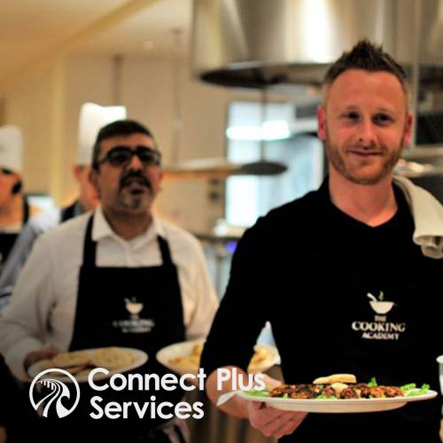 Connect Plus team meeting energiser at The Cooking Academy Hoxton