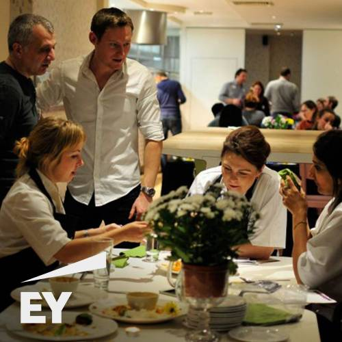 Teambuilding event with Ernst & Young at The Cooking Academy Hoxton