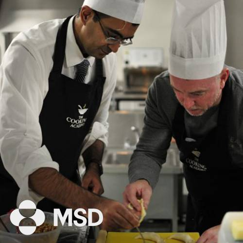 Corporate team building cooking event with MSD