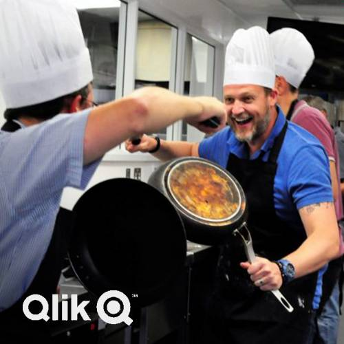 Social Responsibility cookery event with Qlik