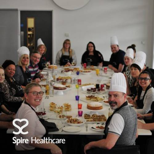 Bake off event with Spire Healthcare at The Cooking Academy Langley