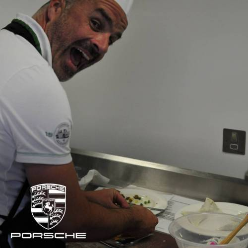 Charity cooking event with Porsche