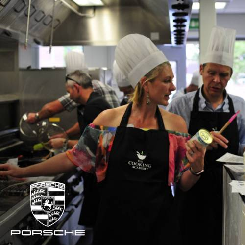 Team building cookery event with Porsche