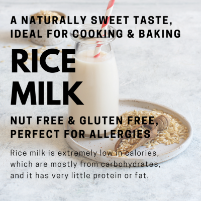 plant-based rice milk climate change environment healthy vegan