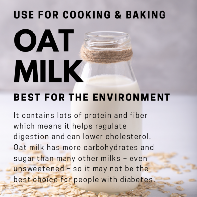 plant-based oat milk climate change environment healthy vegan