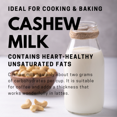 plant-based cashew milk climate change environment healthy vegan