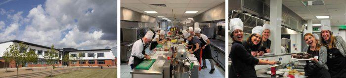 Collage of Newbury cooking venue
